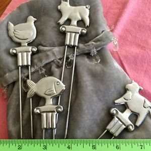 Other - Silver-Tone Animal Kabob Skewers